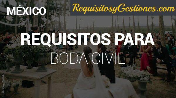 Trámites y Requisitos para Boda Civil en México